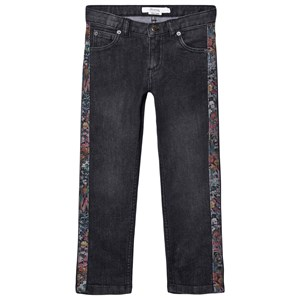 Bonpoint Liberty Floral Trim Jeans Gray 4 years