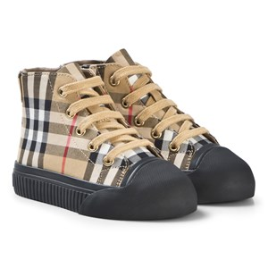 Burberry Vintage Check High-Top Sneakers Antique Yellow 29 (UK 11)