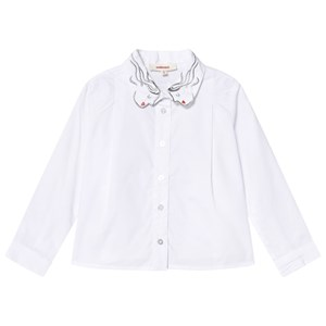 Catimini Embroidered Face Collar Shirt 2 years