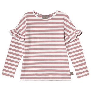 Creamie Stripe T-Shirt Twillight Mauve 104 cm (3-4 Years)