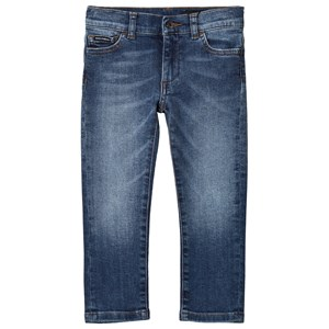 Dolce & Gabbana Blue Mid Wash Slim Fit Branded Jeans 2 years