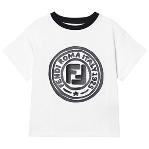 Fendi Roma Stamp Logo T-Shirt White 3 years