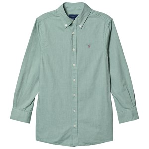 GANT Sage Small Shield Oxford Skjorte Grøn 176cm (16 years)