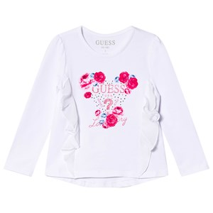 Guess Floral Ruffle T-Shirt White 2 years