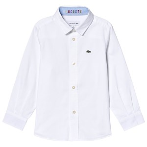 Lacoste Contrast Cuff Oxford Skjorte Hvid 10 years