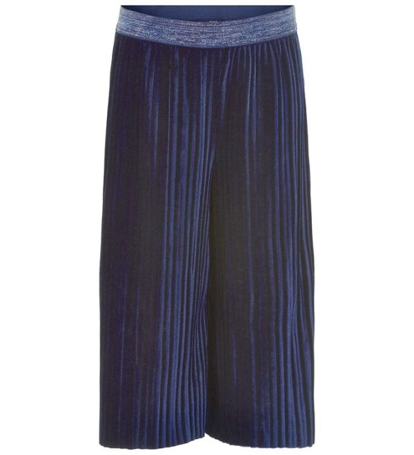 Me Too Culotte Bukser - 3/4 - Velour - Dress Blues