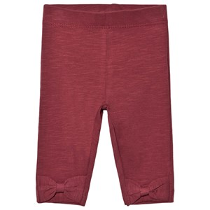 Minymo Bow Leggings Oxblood Red 56 cm (1-2 mdr)