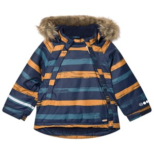 Minymo Herringbone Winter Jacket Pumpkin Spice 80 cm (9-12 Months)