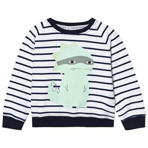Scamp & Dude Chilled Fit Sweatshirt – Navy/White Breton Dino 4-5 years