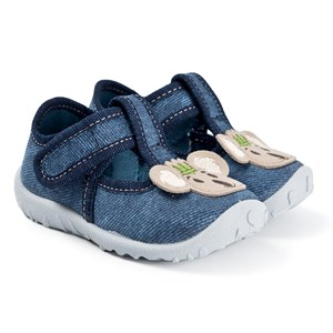 Superfit Spotty Ballerina Shoes Denim blue 19 EU