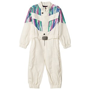 The Animals Observatory Grasshopper Jumpsuit White Colors 2 Years