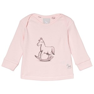 The Little Tailor Pink Rocking Horse Long Sleeve Tee 6-9 months