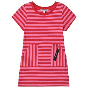 The Marc Jacobs Tag Print T-Shirt Kjole Pink Stribe 4 years