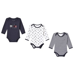 Tommy Hilfiger 3-Pack Branded Baby Bodies Navy 62 (0-3 months)