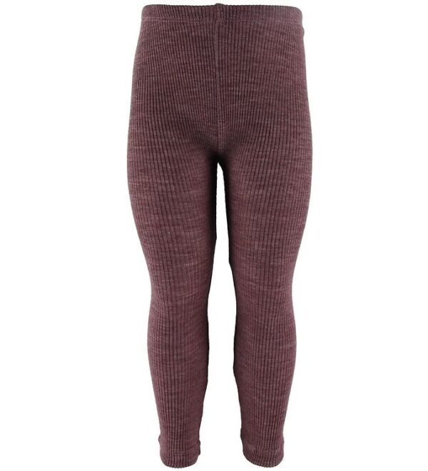 Wheat Leggings - Uld - Rib - Plum Melange
