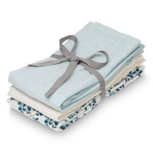 Cam Cam stofbleer, 3pak - Fiori, Light Blue, Cream White