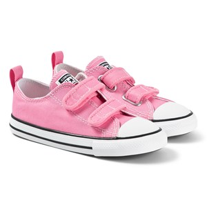 Converse Pink Chuck Taylor All Star OX Infants Velcro Trainers 26 (UK 10)