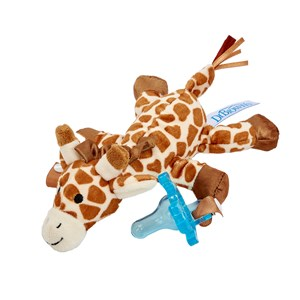 DrBrown's Lovey Sut og Teether Holder i Gerry the Giraffe One Size
