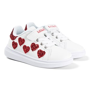 Lelli Kelly Glitter Heart Sneakers White 29 (UK 11)
