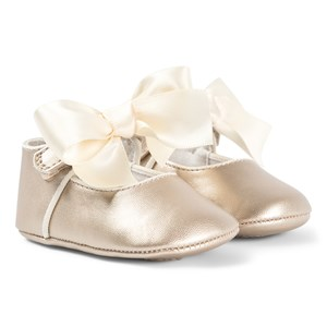 Mayoral Gold Bow Ballerina Crib Shoes 16 (0-3 months)