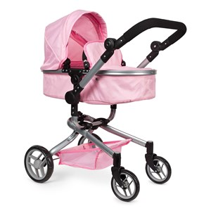 STOY Dukkevogn 2-i-1 Pink One Size