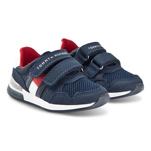 Tommy Hilfiger Low Cut Flag Velcro Sneakers Blå 24 (UK 7)