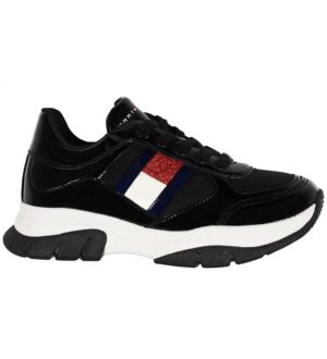 Tommy Hilfiger Sko -Low Cut Lace Up - Sort