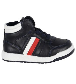 Tommy Hilfiger Sneaker - High Top Lace-Up - Blå/Hvid