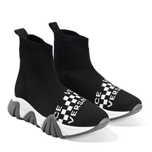 Versace Branded Sock Sneakers Black 33 (UK 1)