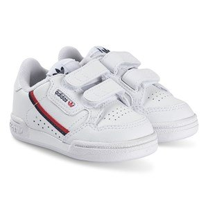 adidas Originals Continental 80 Infants Velcro Sneakers Hvid og Blåt 20 (UK 4)