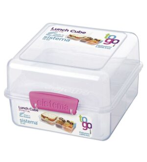 Sistema Madkasse- Lunch Cube- 1,4l- Pink