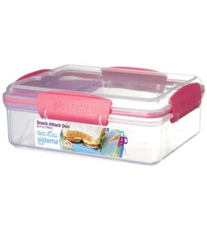 Sistema Madkasse- Snack Attack To Go- 975ml- Pink