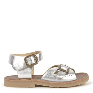 Young Soles Silver Leather Pearl Sandals 24 (UK 7)