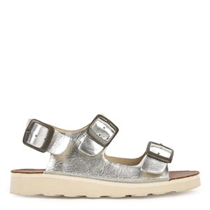 Young Soles Silver Spike Buckle Sandals 26 (UK 8.5)