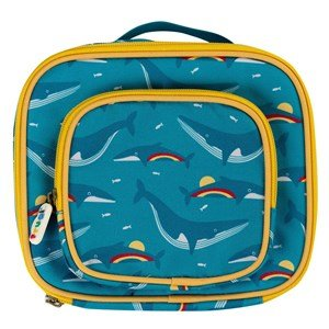 Frugi Pack A Snack Madkasse Rainbow Whales One size