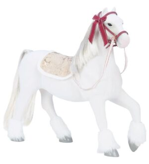 Our Generation Hest - 50 cm - Clydesdale Holiday - Hvid