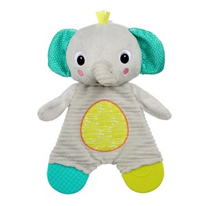 Bright Starts Snuggle & Teethe™ Elephant Plys Teether 0 - 12 mdr.