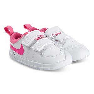 NIKE Pico 5 Sneakers White and Pink Blast 25 (UK 7.5)