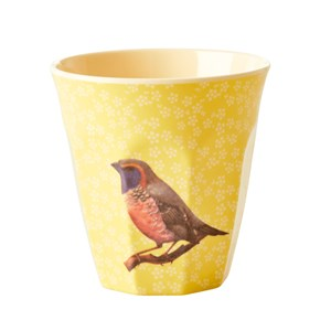 Rice Medium Melamin Kop Yellow Vintage Bird one size