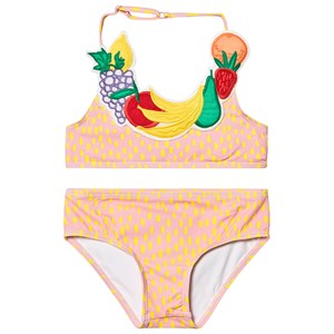 Stella McCartney Kids Orange Fruit Necklace Bikini 12 years