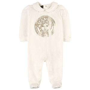 Versace Medusa Footed Baby Body White 0-3 months