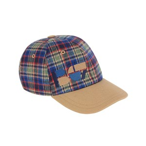 Bonpoint Checked cap 14-16 years