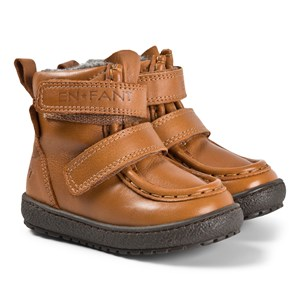 EnFant Velcro Tex Leather Vinterstøvler Camel 25 EU
