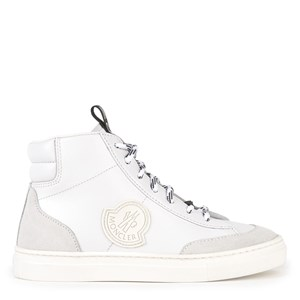 Moncler Leather Hi-Top Sneakers White 27 EU