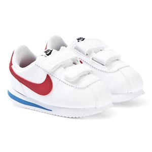 NIKE White and Red Nike Cortez Basic 2V Sneakers 31.5 (UK 13)