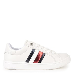 Tommy Hilfiger Flag Branded Sneakere Hvide 33 EU