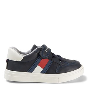 Tommy Hilfiger Flag Logo Sneakers Navy 24 (UK 7)