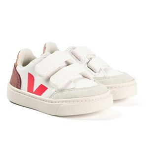 Veja V-12 Velcro Leather Sneakere White/Pink 22 (UK 5.5)