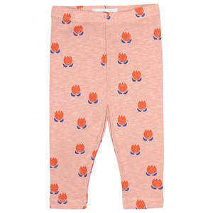 Bobo Choses Chocolate Flowers Leggings Dusty pink 6-12 months