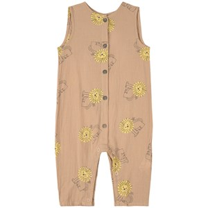 Bobo Choses Pet A Lion Print Jumpsuit Brun 6-12 months